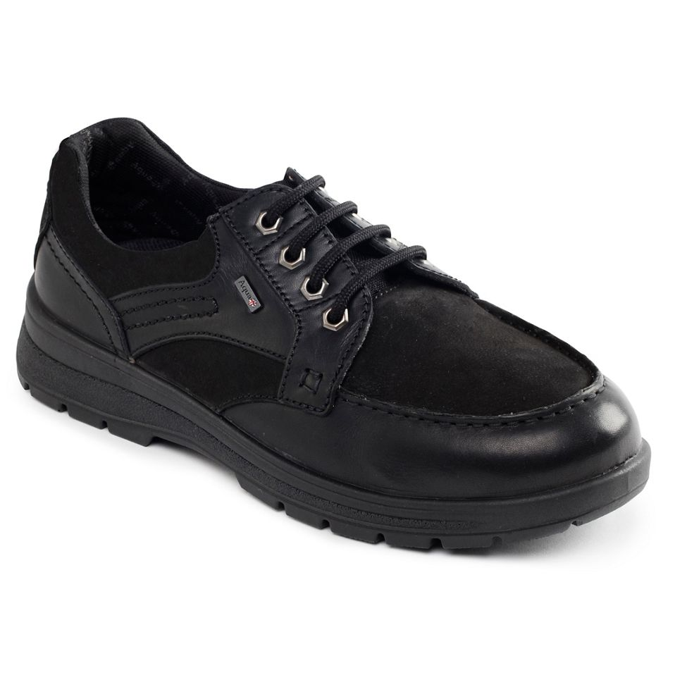 Padders TRAIL Mens Waterproof Leather Nubuck Wide G H Fit Lace Up shoes Black