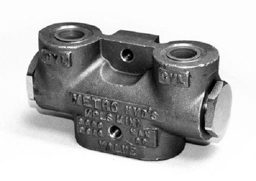 """Válvula Hidráulica de bloqueo doble 3//8/"""" puertos hecho en Estados Unidos"""
