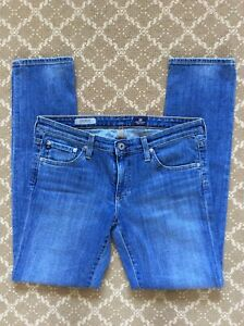 AG-Adriano-Goldschmied-The-Stilt-Jeans-Cigarette-Leg-Skinny-Blue-Denim-29R-29-R