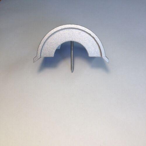 BEFESTIGUNG 70x70mm Runddach Abdeckkappe Kappe 7x7 Pfosten 4 x Pfostenkappe ALU