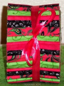 20~Honey Bun Fabric Strips Roll Bright Pink Black Green Quilting ... : honey bun quilting strips - Adamdwight.com