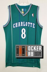 Details about Kobe Bryant Charlotte Retro Black Mamba #8 Basketball Jersey