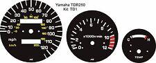 YAMAHA TDR 250 TDR250 SPEEDO TACHO REV COUNTER TEMP GAUGE 3-PIECE OVERLAY KIT