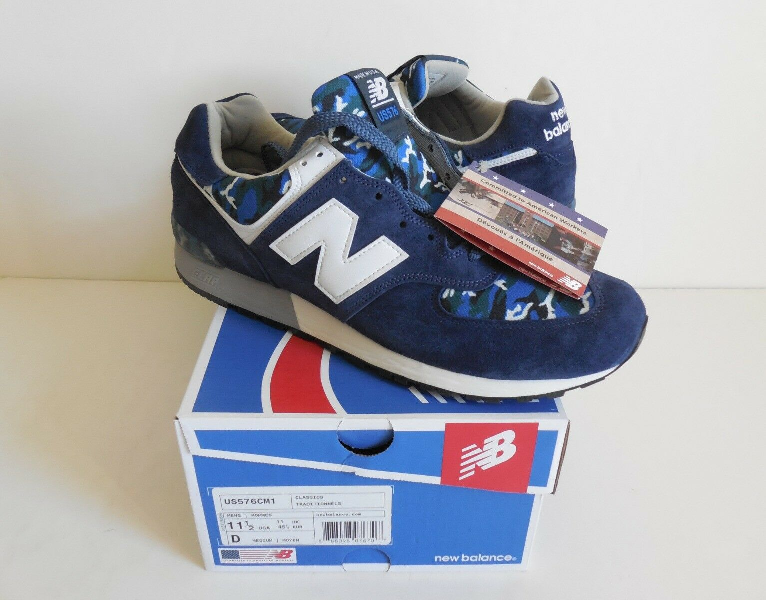 New Balance US576CM1 Made in USA Suede Sneaker Men's Size 11.5D New