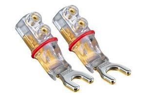 4-x-WBT-0661-Cu-nextgen-Kabelschuhe-6mm-vergoldet-TORX-Spade-gold-plated-0661Cu