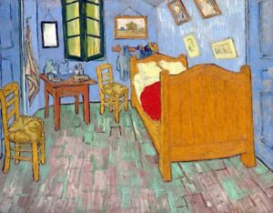 The Bedroom Painting By Vincent Van Gogh Art Reproduction Ebay