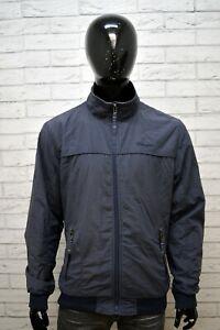 Giubbotto-Blu-Uomo-WRANGLER-Taglia-XL-Giacca-Cappotto-Jacket-Man-Primaverile