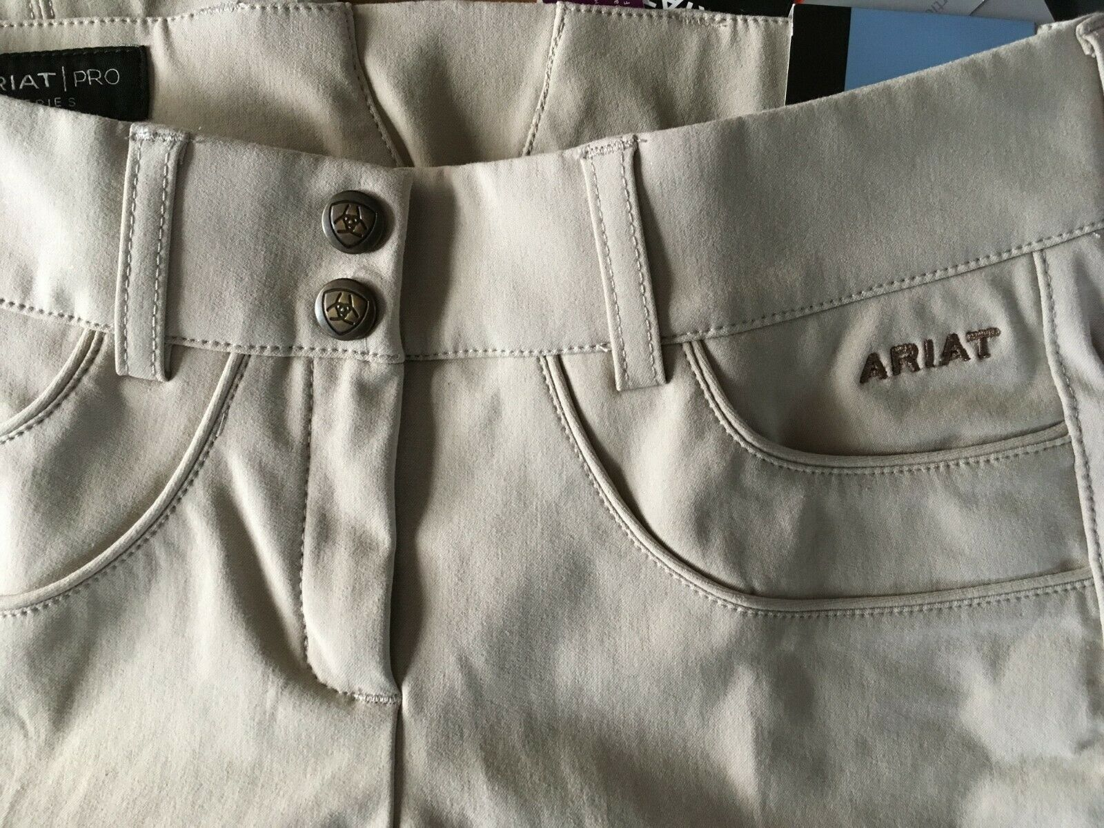 NWT Ladies Ariat Pro Olympia Low Rise Euro Seat  Knee Patch Breeches 22 Reg - TAN  up to 60% discount