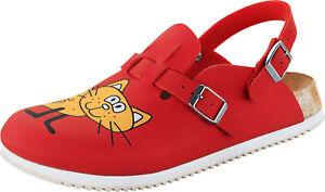 reputable site 03f26 923f8 Details zu Birkenstock Kay SL Katze rot Pantoletten Clogs Schuhe Gr. 39