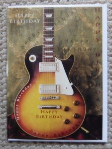 Image Is Loading Electric Guitar HAPPY BIRTHDAY Greetings Card