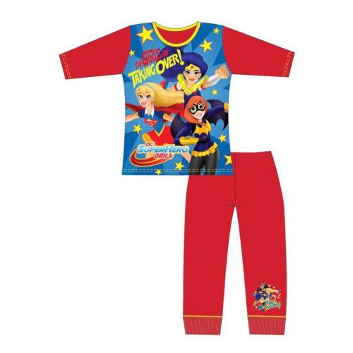 Ages 4-10 Years Girls Super Hero Pyjamas