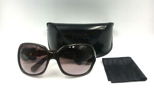 Fendi-Woman-039-s-Sunglasses-Buckle-Limited-Edition-Black-amp-Bronze-Color-FS384