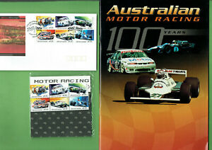 MM-2002-AUSTRALIAN-MOTOR-RACING-MAGAZINE-STAMPS-amp-FIRST-DAY-COVER