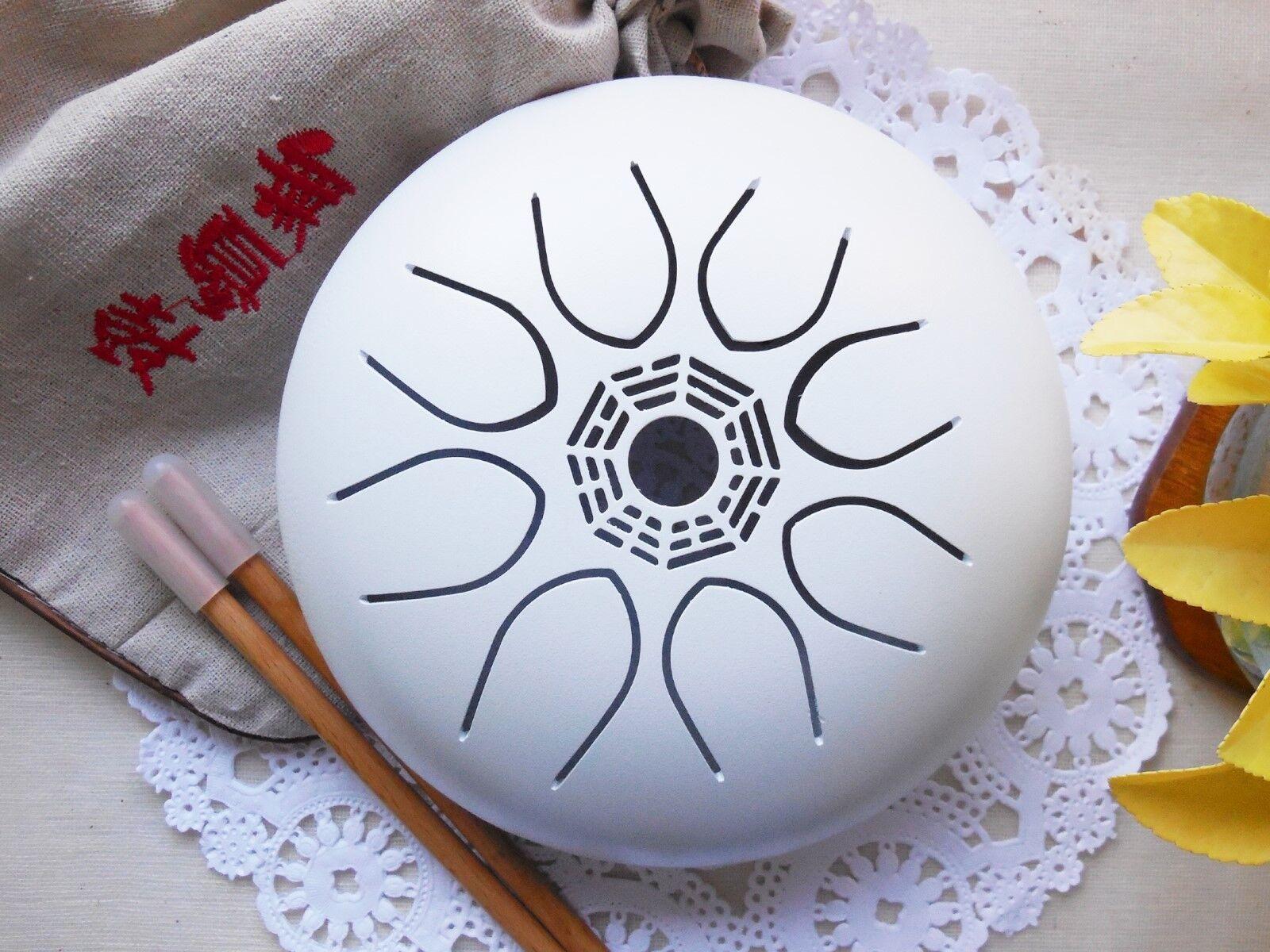 WuYou Tai  Bagua 7  16cm Steel Tongue Drum Handpan, Reiki Boost and healing