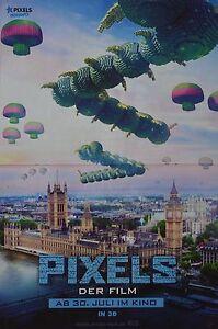 PIXELS-A3-Poster-ca-42-x-28-cm-Film-Plakat-Clippings-Fan-Sammlung-NEU