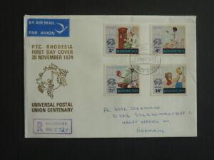 Intelligent Fdc Rhodésie-zimbabwe 20. Novembre 1974 Cadeau IdéAl Pour Toutes Les Occasions