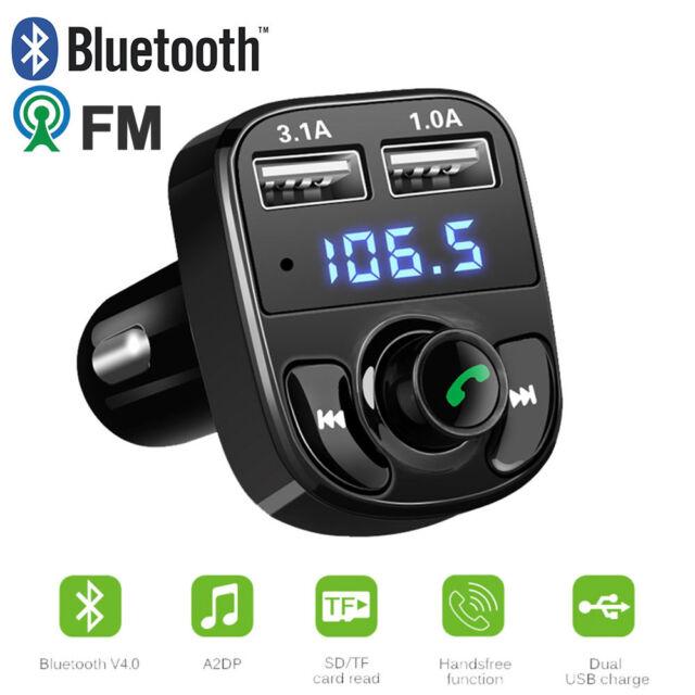Wireless Car Bluetooth FM Transmitter 2USB Charger Handsfree Radio MP3 Player SD