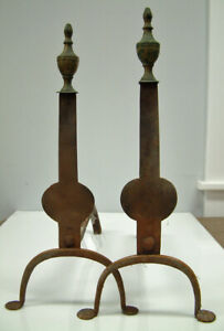 Antique-Knife-Blade-Andirons-wth-penny-Feet
