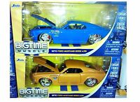 Pack Of 2 Ford Mustang 1970 Boss 429 Diecast Car 1:24 Jada Toys 8in Blue Orange