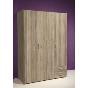 58 123 66 kleiderschrank stauraumschrank base eiche s gerau nb ca 120 cm breit ebay. Black Bedroom Furniture Sets. Home Design Ideas