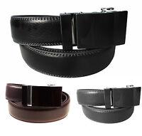 Gürtel Herren 110-130 cm Echt Leder Automatik schwarz braun grau Ledergürtel, #8