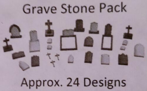 Dollhouse Miniature Grave Stone Headstone Pack Marker O Scale 1:48