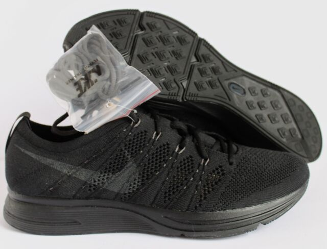 c5ee6dc5debf Nike Flyknit Trainer Triple Black Anthracite Men Running Shoe Sneaker  Ah8396-004 9.5