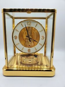 Very Rare Atmos 540 Clock by Jaeger LeCoultre in Brass with Instruction Guides