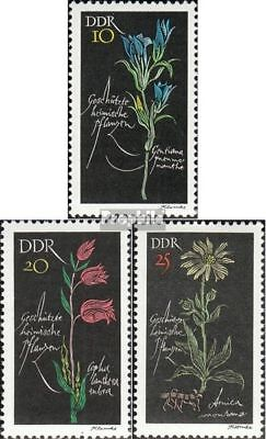 Fdc 1966 Protected Local Plants complete.issue. Frank Ddr 1242-1244