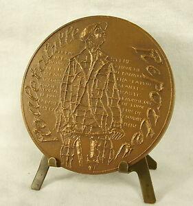 Medalla-Gaston-Leroux-ROULETABILLE-Reportero-sc-Despierre-68mm-Mister-Flow-Medal