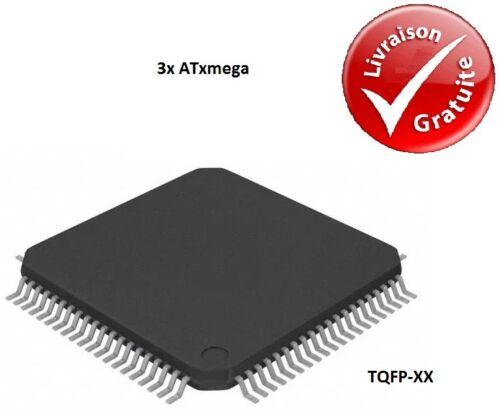 TQFP NEUF 3x Microcontrôleurs Atmel ATxmega