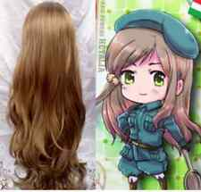 HOT~ Axis Powers Hetali APH Hungary Curly Brown Cosplay Wig +Gift