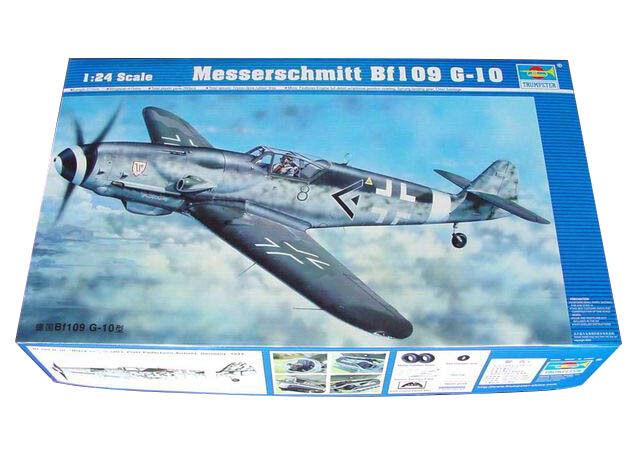Trumpeter 9362409 Messerschmitt Bf109 G-10 1 24 Kampfflugzeug Modellbausatz    Louis, ausführlich