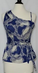Rmellos Blue Floral Gre Tan Large Schulterfrei Schchen Tᄄᄍllbluse AFXqxHqI