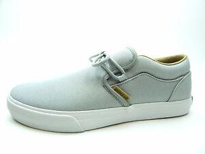 Supra Mens Cuba Lt. Grey White Skate Shoes  37 EU P4YdmLx