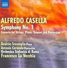 Alfredo Casella: Symphony No. 1; Concerto for Strings, Piano, Timpani & Percussion (CD, Jun-2010, Naxos (Distributor))