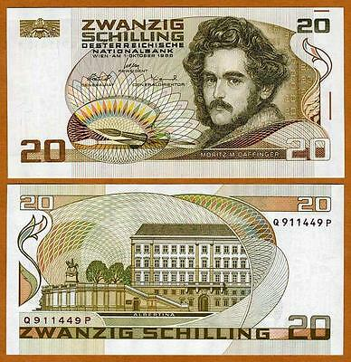 Austria, 20 schillings, 1986, Pick 148, last pre-Euro, UNC