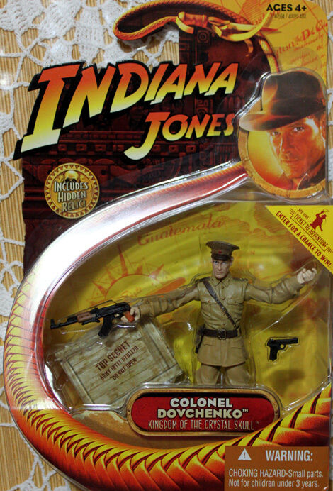 INDIANA JONES KINGDOM OF THE CRYSTAL SKULL COLONEL DOVCHENKO MOC HASBRO 2008