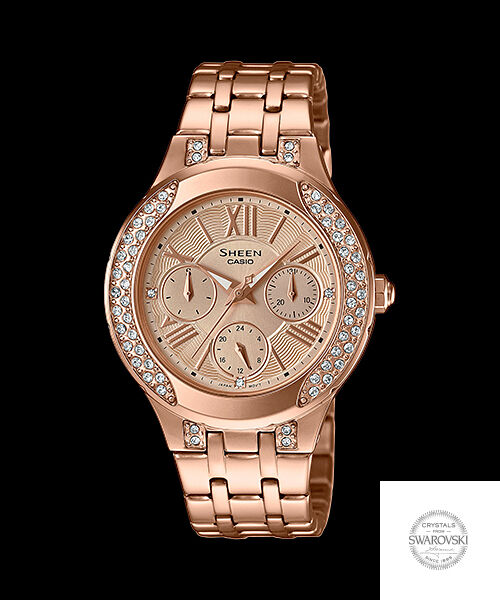 cf4e3a63268 She-3809pg-9a Rose Gold Casio Sheen Women Watches Stainless Steel Analog for  sale online