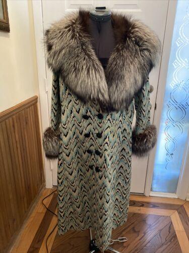 GORGEOUS Couture Lurex Flame Stitch Print Dress Co