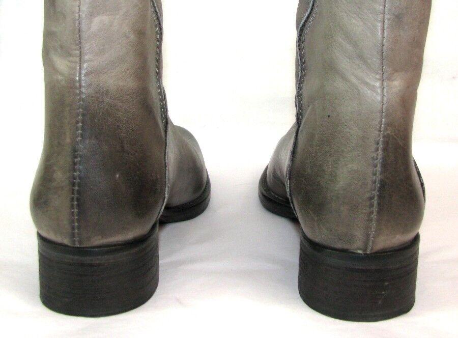 Auf der grau Suche Stiefel Knieschützer Vollleder grau der nuanciert 36 italienisch 847c9d
