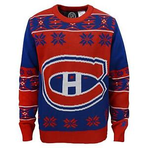 info for ba73e 18464 Details about Montreal Canadiens NHL Youth Boys Christmas Ugly Sweater
