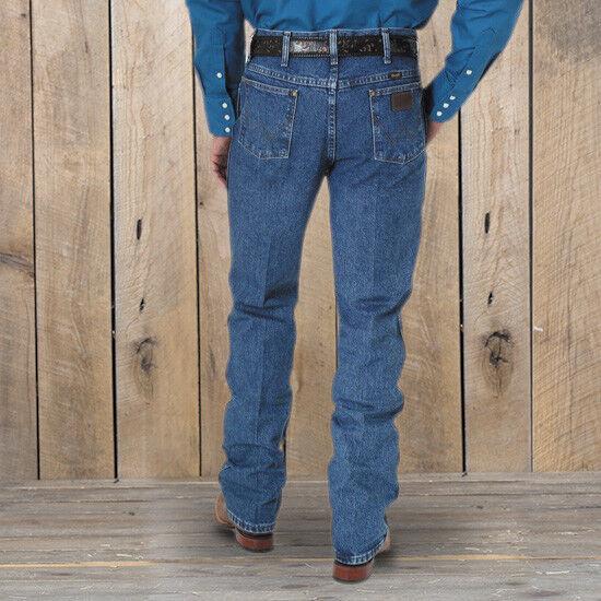 75c48ddc Men's Wrangler Premium Performance Cowboy Cut Slim Fit Jeans Dark Stone W32  L38. About this product. Premium Performance Dark Stonewash Long Inseam