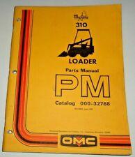 Mustang 310 Skid Steer Loader Parts Manual Catalog Book 678 Original Owatonna