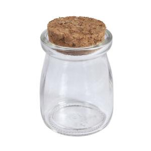 Unico 100ml Piccolo barattolo di vetro con coperchio in sughero per artigianato