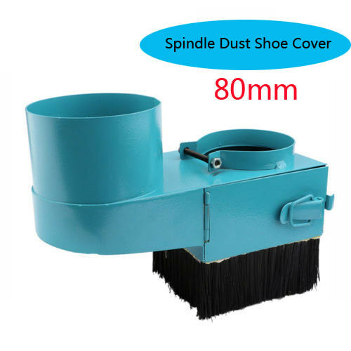 80mm Spindle Dust Shoe Cover Cleaner for CNC Router Engraving Milling Machine