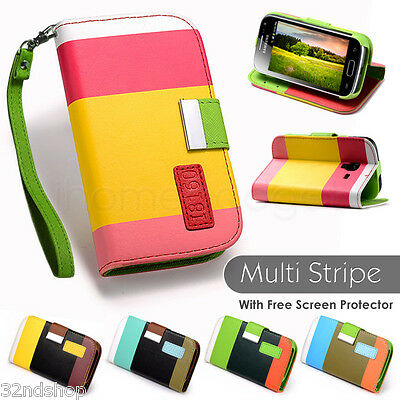 32nd Stand wallet leather case for SAMSUNG GALAXY ACE 2 i8160 + SCREEN PROTECTOR