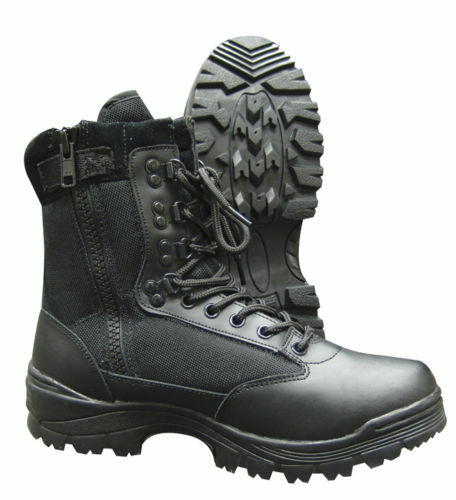 9  Side Zipper Tactical Boot - TRU-SPEC 4050 - Leather and Nylon - New In Box