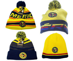 02691dec226 Image is loading Club-America-Beanie-cap-hat-Soccer-Official-Merchandise-