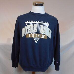 fba55c50 Image is loading Vintage-NOTRE-DAME-Champion-Brand-Graphic-Sweatshirt-Sz-